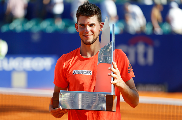Thiem with the Argentina Open trophy (Getty/Gabriel Rossi/STF)