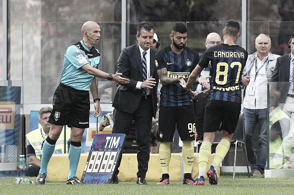 Momento que Gabigol entra em campo (Foto: Marco Luzzani/Internazionale)