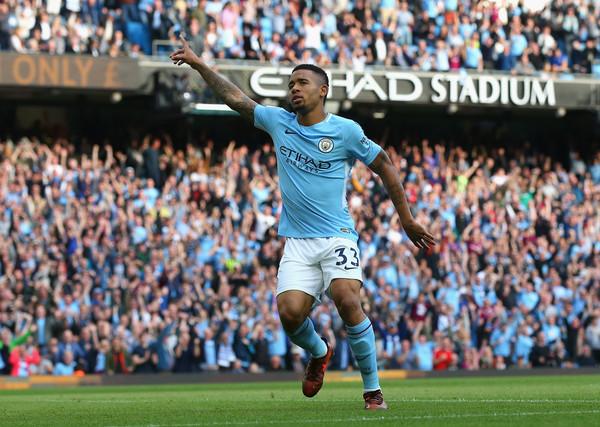 Gabriel Jesús celebra un gol esta temporada. Foto: Getty Images
