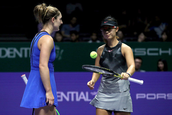 Dabrowski and Xu qualified for the WTA Finals last year but fell at the first hurdle | Photo: Matthew Stockman/Getty Images AsiaPac