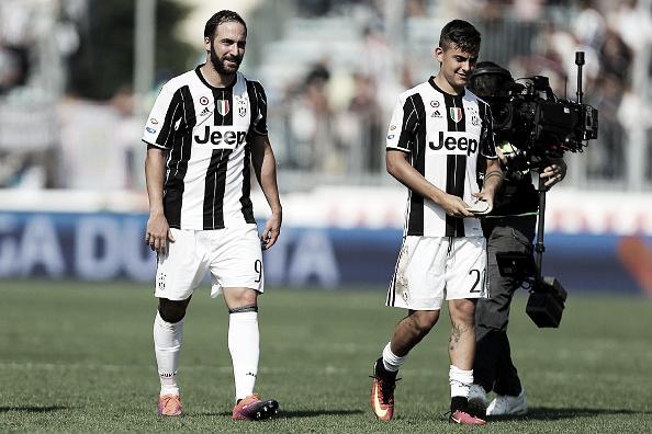Higuaín e Dybala: atacantes fatais da Juve (Foto: Gabriele Maltinti/Getty Images)