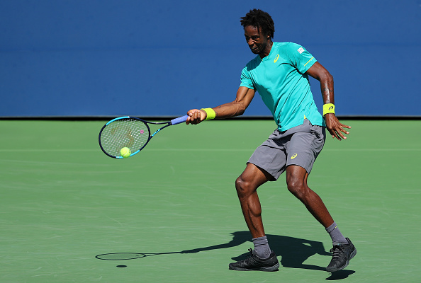 Gael Monfils in round one action (Photo: Richard Heathcote/Getty Images)