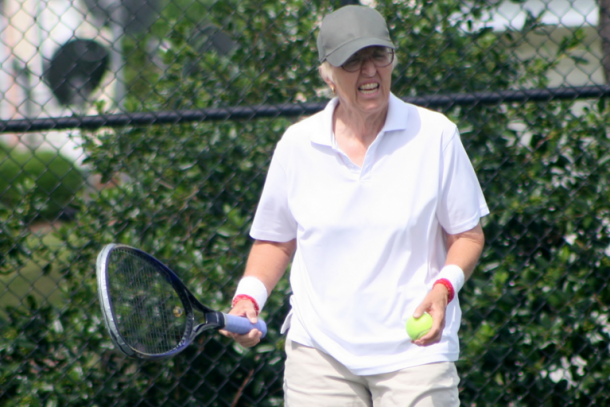 Gail Falkenberg is the 329th-ranked woman on the United States Tennis Association's open rankings system. | Photo: Ian McCormick