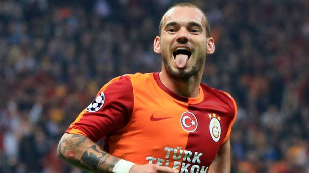 Sneijder is the star man for Galatasaray | Photo: Getty