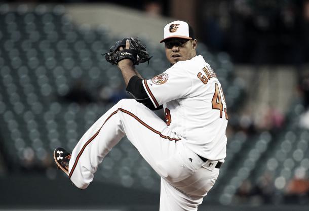 Gallardo spent one season in Baltimore. Photo: Baltimore Sun