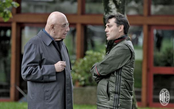 Galliani e Montella, acmilan.com