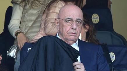 Galliani in tribuna al Bentegodi, gazzetta.it