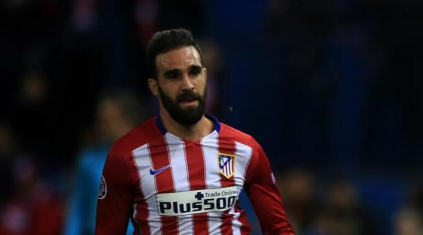 Gamez in action for Atletico in a Champions League match (Photo: football.co.uk)