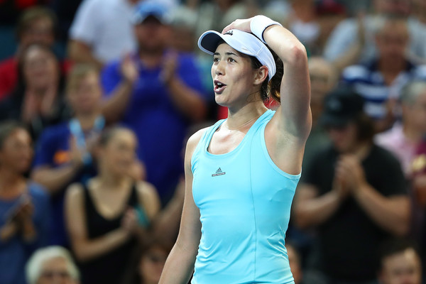 Muguruza celebrates her win over Kasatkina in Brisbane this year | Photo: Chris Hyde/Getty Images AsiaPac
