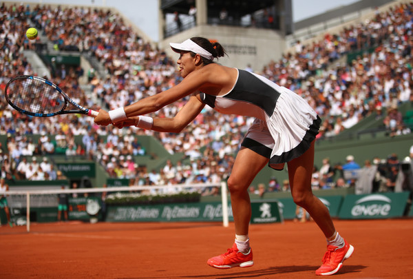 Garbine Muguruza in action at the French Open, where she fell to home favourite Kristina Mladenovic | Photo: Clive Brunskill/Getty Images Europe