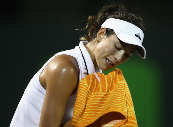 Garbine Muguruza was frustrated with herself during last night | Photo: Julian Finney/Getty Images North America
