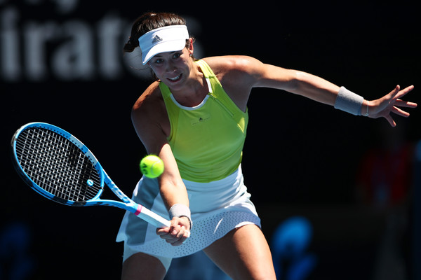 Garbine Muguruza in action at the Australian Open, where she surprisingly fell in the second round | Photo: Clive Brunskill/Getty Images AsiaPac