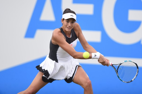 Garbine Muguruza in action at the Aegon Classic | Photo: Nathan Stirk/Getty Images Europe