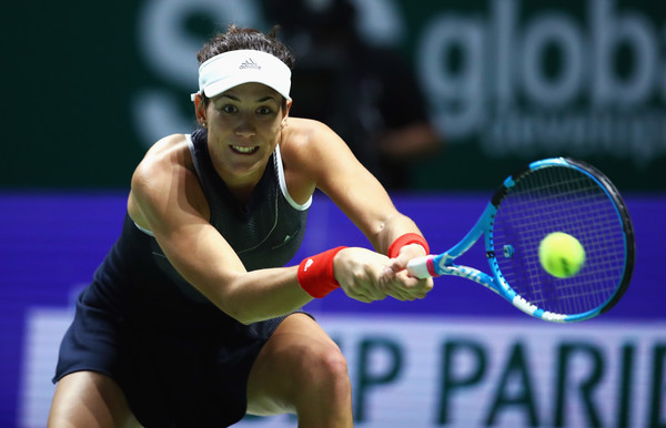 Muguruza in action during the match | Photo: Clive Brunskill/Getty Images AsiaPac