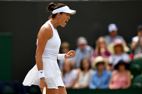 Garbine Muguruza's celebrations often spurred her on during the encounter | Photo: Shaun Botterill/Getty Images Europe