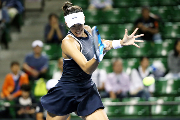 Garbine Muguruza in action during the match | Photo: Koji Watanabe/Getty Images AsiaPac
