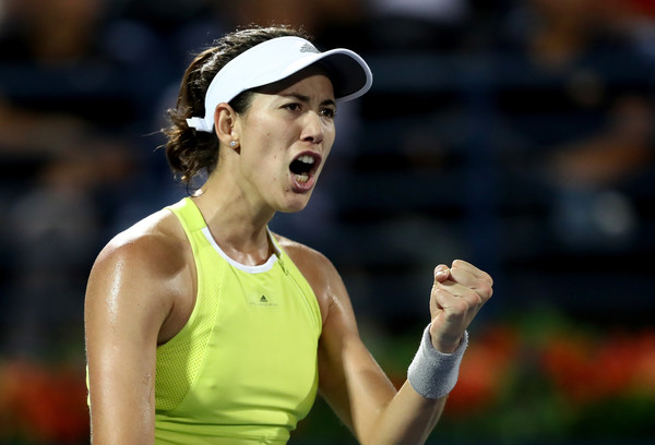 Garbine Muguruza celebrates winning a point during the hard-fought match | Photo: Francois Nel/Getty Images Europe