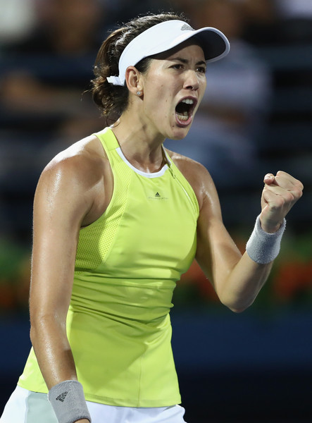 Muguruza celebrates winning a point in this tightly-contested affair | Photo: Francois Nel/Getty Images Europe
