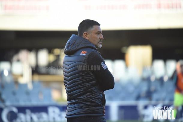 Imagen de García Pimienta, entrenador del FC Barcelona B. FOTO: Noelia Déniz
