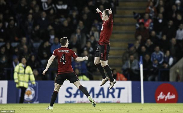 Gardner celebrates the goal against Leicester (photo: reuters)