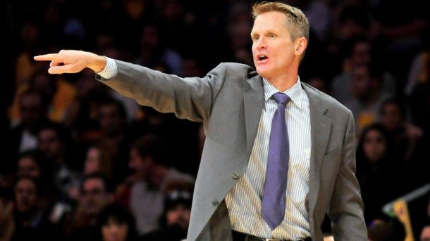Steve Kerr coaches a game from the sideline (Gary A. Vasquez/USA TODAY Sports)