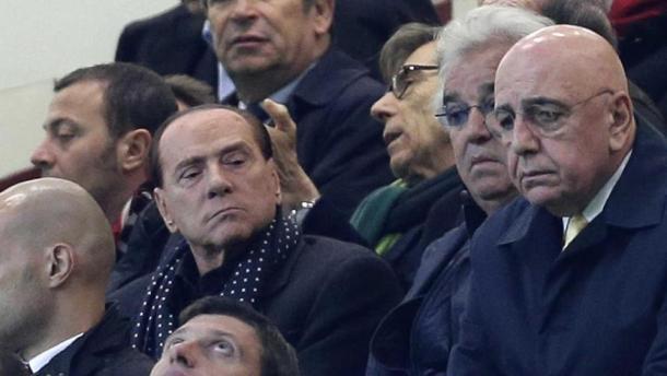 Berlusconi e Galliani in tribuna a San Siro, lastampa.it