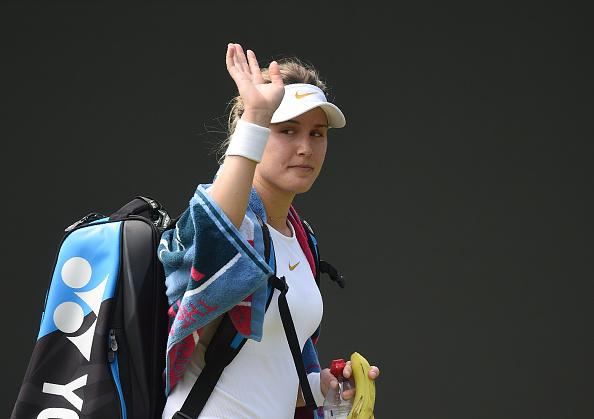 Genie sai de Wimbledon com sensações positivas apesar de queda na segunda rodada (Foto: OLI SCARFF/AFP/Getty Images))
