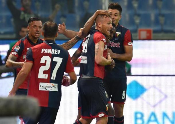Il Genoa durante il derby con la Samp, ansa.it