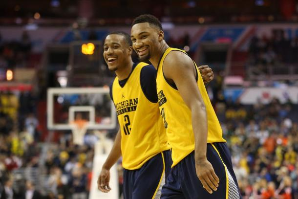 Zak Irvin and Muhammad Ali Abdur-Rahkman wearing their practice jerseys in a game vs. Illinois just one day after their plane crashed on a runway due to poor weather. Photo Credit: Geoff Burke- USA Today