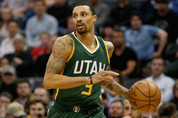Hill has proven to be a fruitful guard for the Jazz. Credit: Matthew Stockman/Getty Images North America