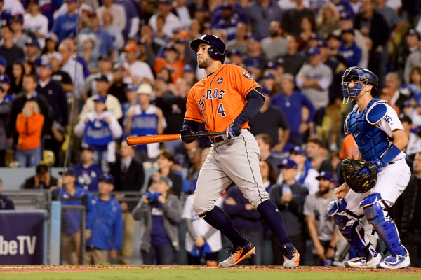 Springer capped his MVP performance with his fifth home run of the Fall Classic/Photo: Harry How/Getty Images
