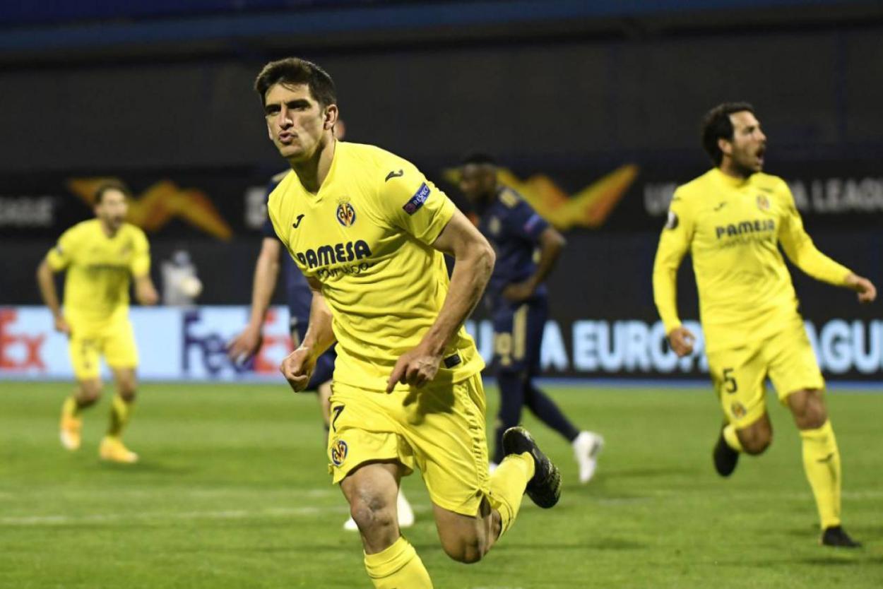 Gerard Moreno celebrando un gol. FUENTE: Getty Images