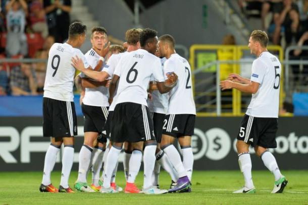 La Germania dopo un gol, foxsports.it