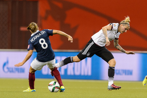 Anja Mittag will want to find the back of the net in this game | Source: Minas Panagiotakis/Getty Images North America