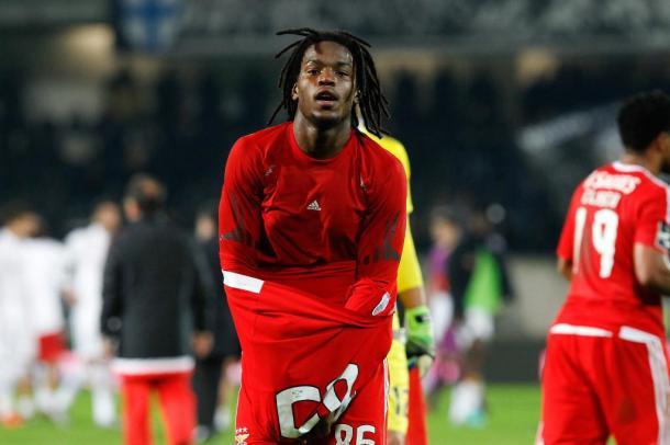 Renato Sanches foi o autor do único golo do jogo da 1ª volta (Foto: Site Oficial SL Benfica)