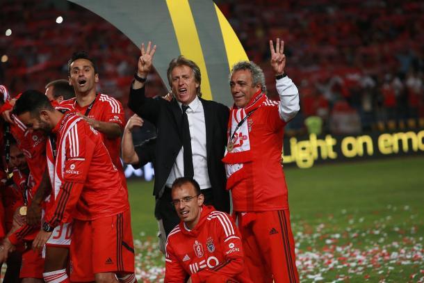 A Final da Taça da Liga foi o último jogo de JJ enquanto técnico do Benfica| Foto: slbenfica.pt