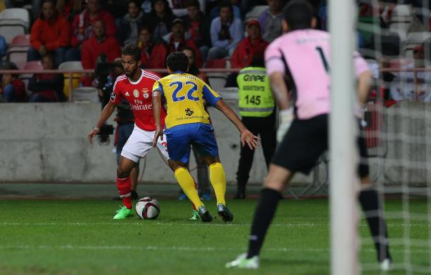 O jogo com o Arouca ditou a 1ª derrota no campeonato (Foto:SLBenfica.pt)