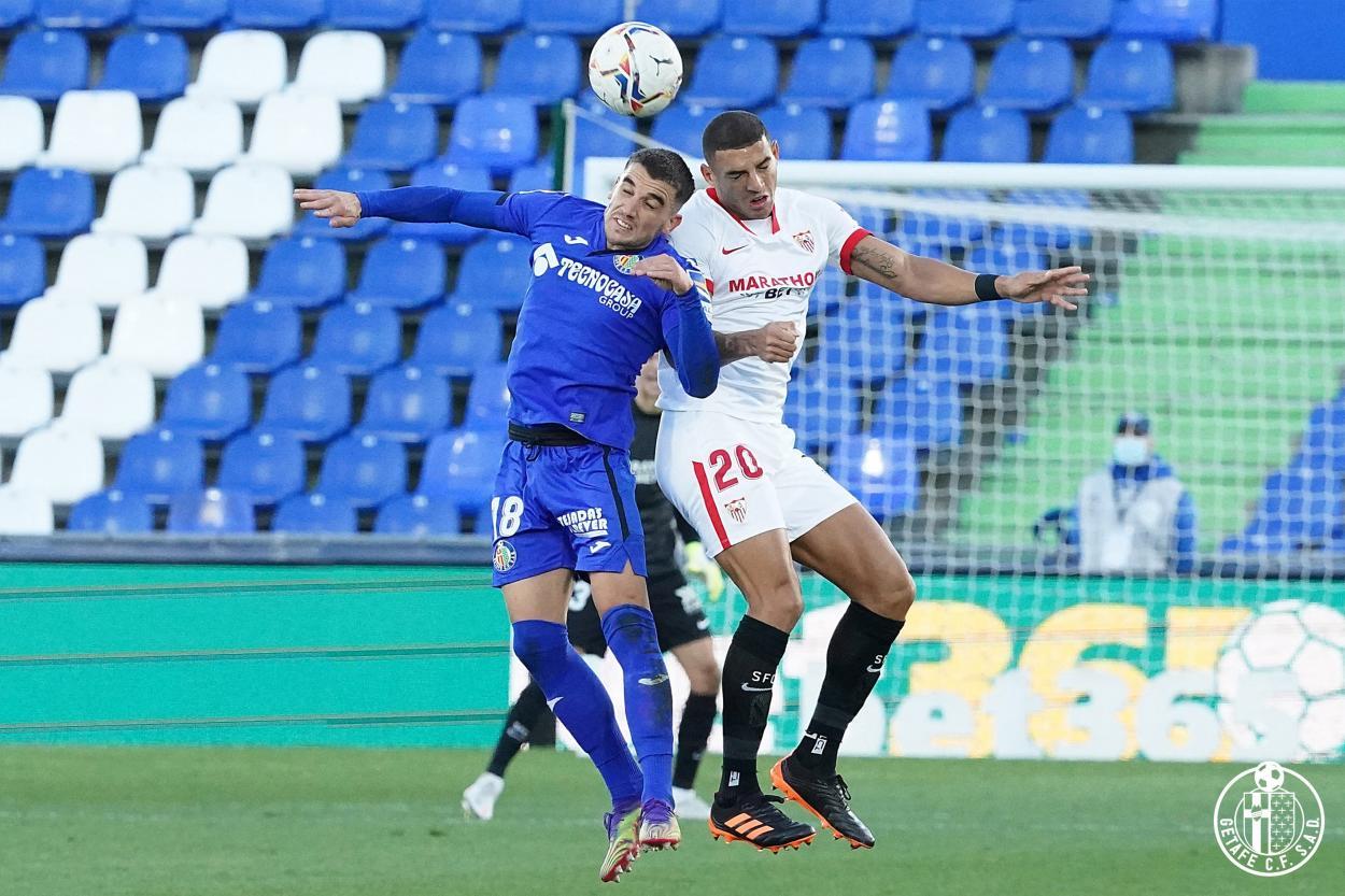 Getafe vs Sevilla. 0-1 // Fuente: Getafe CF