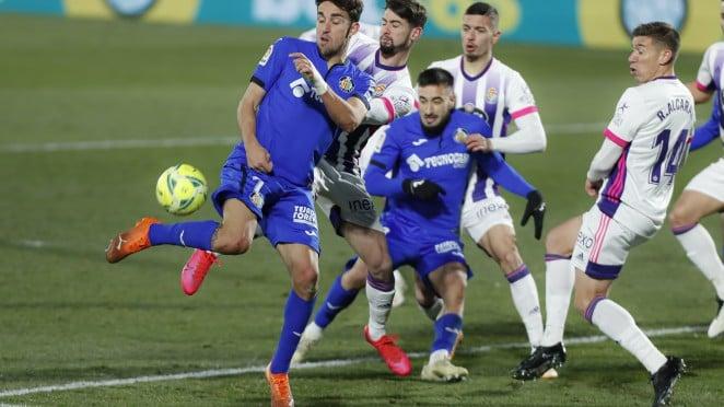 Getafe vs Valladolid, partido de ida en el Coliseum // Fuente: Real Valladolid