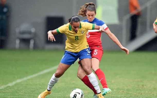 Rosana competing against the U.S. in Brazil's 2014 invitation tournament. |Getty Images Evaristo SA AFP