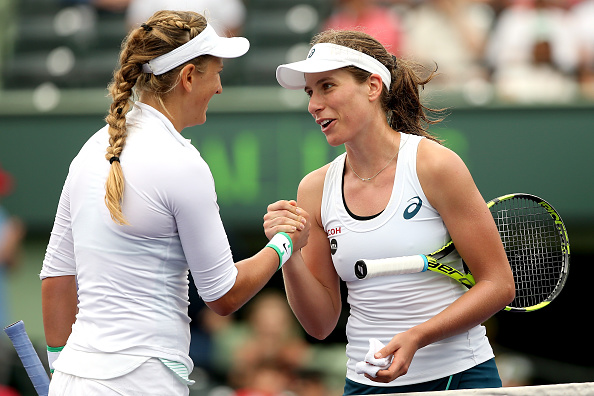 Konta loses to eventual champion Azarenka, after becoming first ever British woman to reach Miami Open quarterfinals / Photo: Matthew Stockman Getty Images