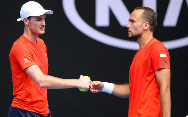 Jamie Murray (left) and Bruno Soares have soared to number one (Photo: Getty Images)