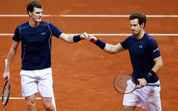 Jamie Murray (left) and Andy Murray may partner up again in Davis Cuo play (Photo: Getty Images)