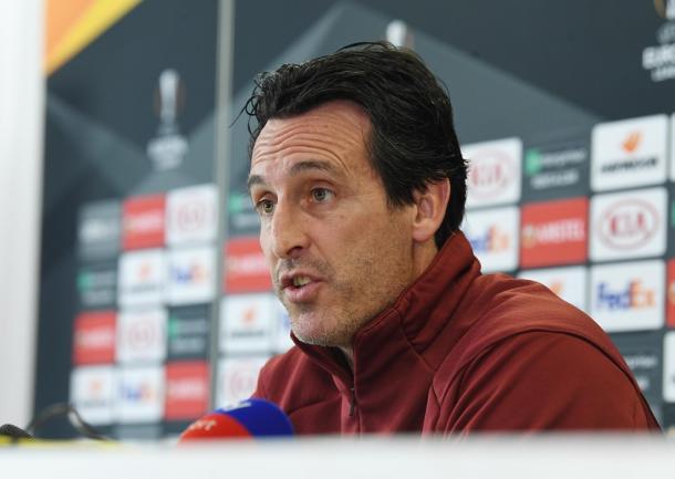 Unai Emery, entrenador del Arsenal. FOTO: UEFA.com