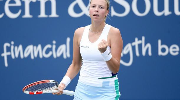 Kontaveit is looking for her first major semifinal/Photo: Matthew Stockman/Getty Images
