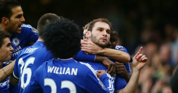 Ivanovic celebrates his opening goal in December. (Photo: Football 365)