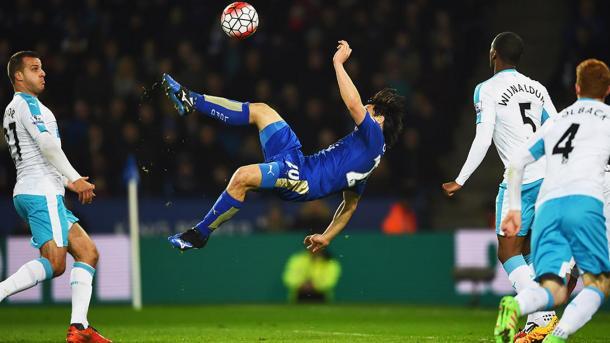Okazaki marcó en los últimos dos encuentros ante Newcastle   Foto: Getty Iamges.