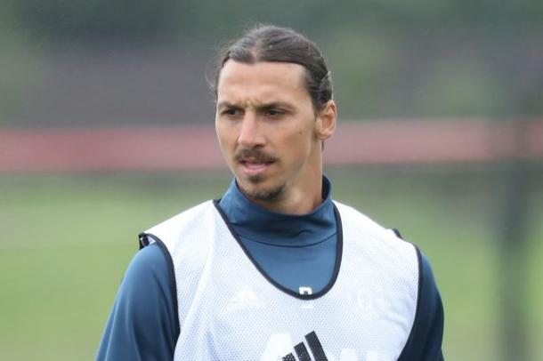 Ibrahimovic trained with United for the first time on Thursday | Photo: Getty