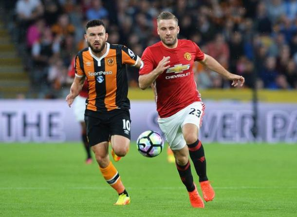 Shaw in action against Hull at the KCOM stadium | Photo: Getty
