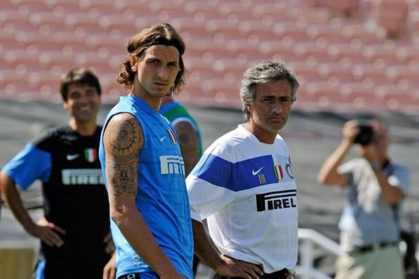 Mourinho has always been on hand to offer Zlatan advice (photo: Getty Images)